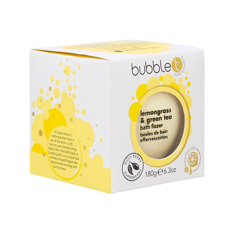 Bubble T Bath fizzer in Lemongrass & green Tea