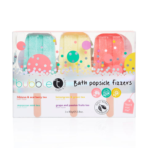 Bubble T Bath fizzer lollipops ( 3 x 80g)