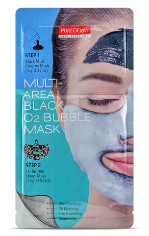 Purederm Multi-Area Black O2 Bubble Mask