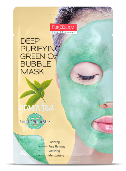 Deep Purifying Green O2 Bubble mask- GREEN TEA