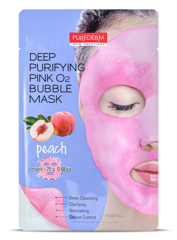 Purederm Deep Purifying Pink O2 Bubble mask- PEACH