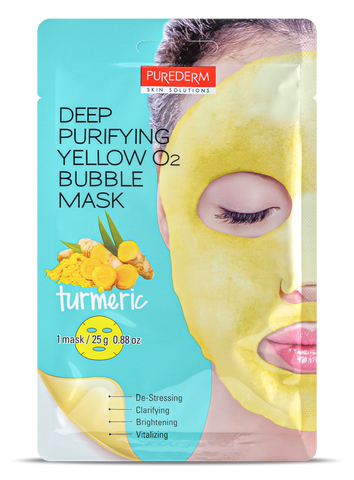 Deep Purifying Yellow O2 Bubble mask- TUMERIC