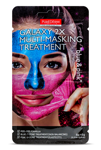 Purederm GALAXY 2X Multi-Masking Treatment blue & pink