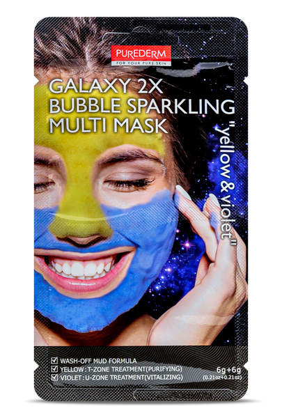 GALAXY 2X Bubble Multi Mask yellow & violet