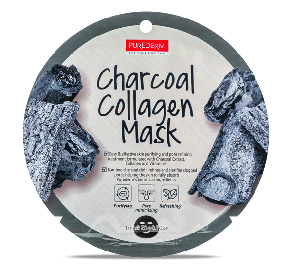 Purederm Collagen Mask- Charcoal
