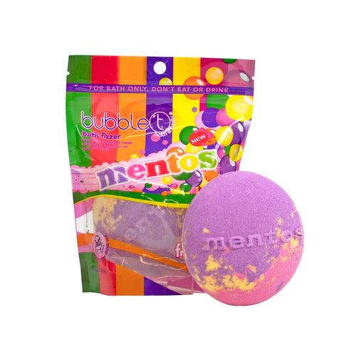 Bubble T Mentos Rainbow Bath fizzer