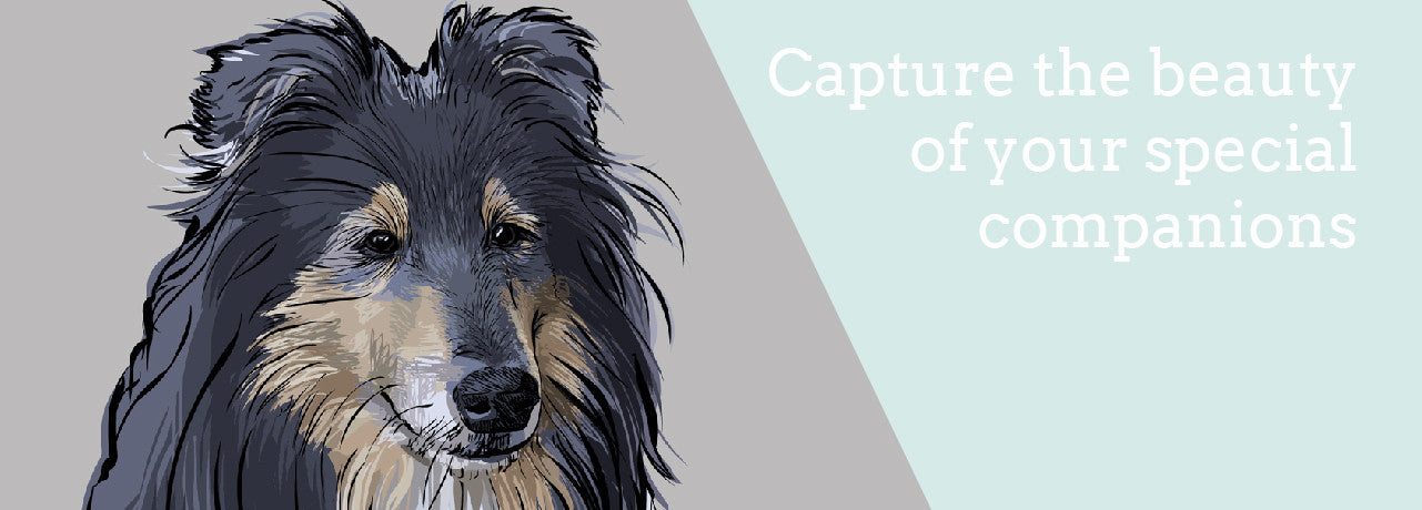 dog portraits, dog memorial art