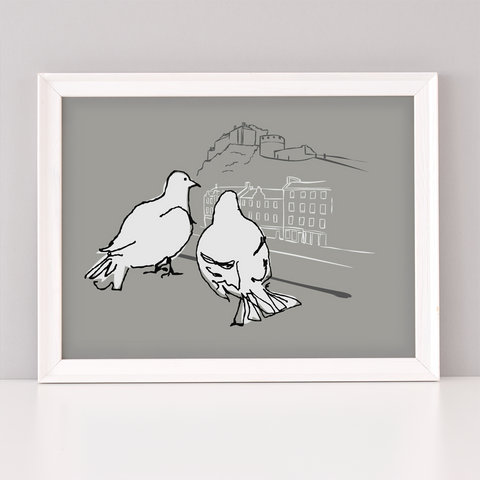 Edinburgh Love Birds Art Print