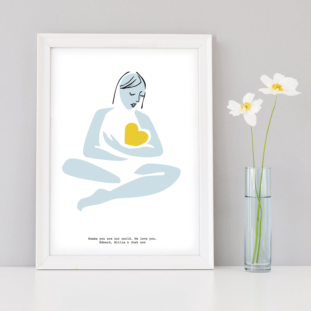 Mother Abstract Figure Personalised Art Print