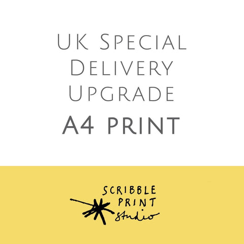 Scribble Print Studio A4 Print UK Special Delivery