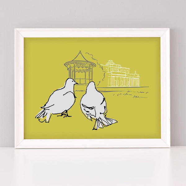 Scribble Print Studio Cheltenham Lovebirds Art Print
