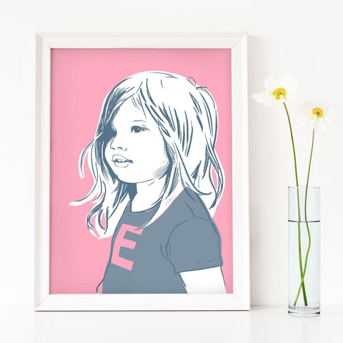 Scribble Print Studio Custom Artwork Contemporary Custom Children's Portrait