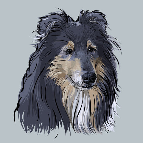Scribble Print Studio Custom Artwork Custom Dog Portrait Art Print