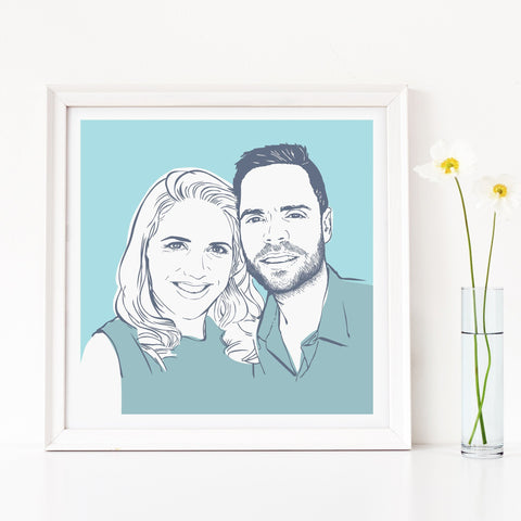 Scribble Print Studio Custom Artwork Personalised Custom Family Portrait Print