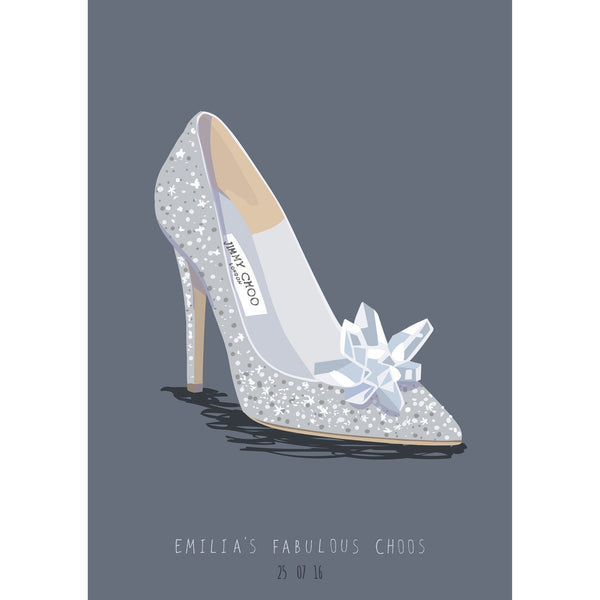 Scribble Print Studio Custom Wedding Shoe Illustration