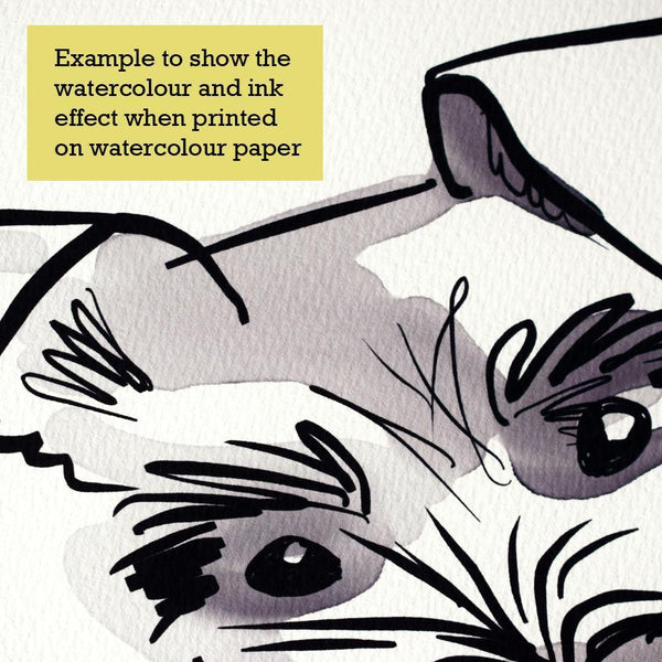 Scribble Print Studio Dog Breeds Jack Russell Art Print