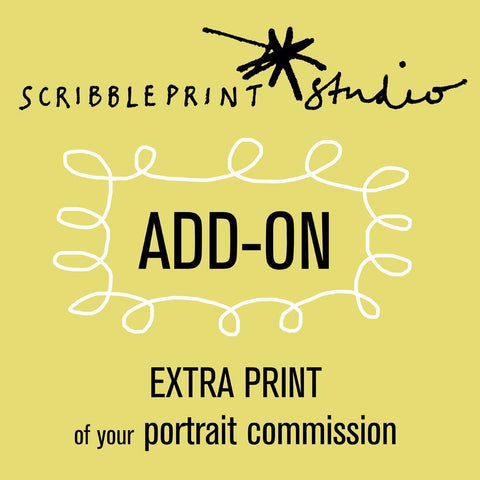 Scribble Print Studio Extra A4 print of your portrait commission