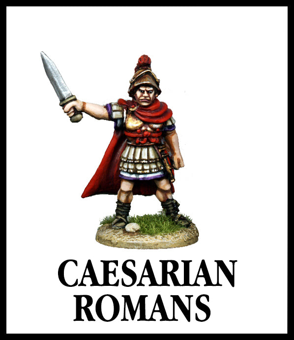 28mm scale lead metal miniature toy soldier from Wargames Foundry caesarian roman tribune in authentic dress