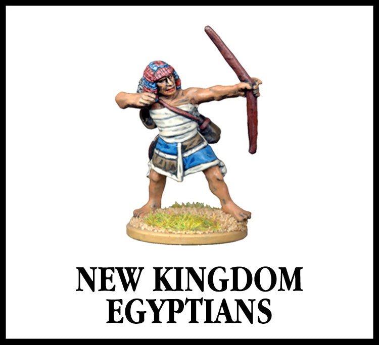 28mm scale lead metal miniature toy soldier from Wargames Foundry New Kingdom Egyptian with bow and arrow in traditional dress