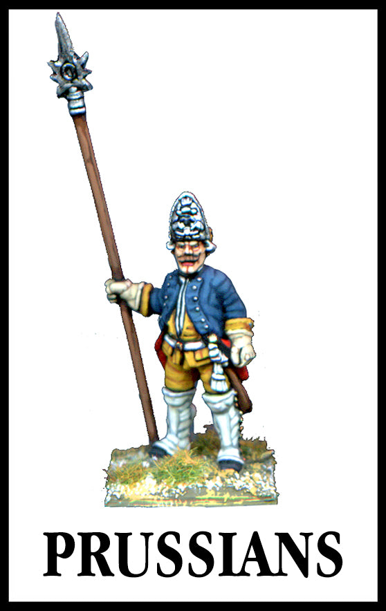 28mm scale lead metal miniature toy soldier from Wargames Foundry Seven Years War Prussian Grenadier in uniform