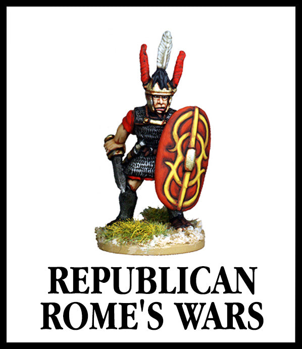 28mm scale lead metal miniature toy soldier from Wargames Foundry Republican Roman from Legionary command pack in authentic dress