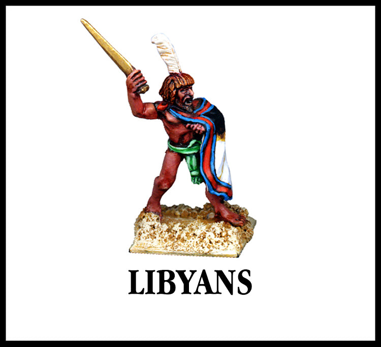 28mm scale lead metal miniature toy soldier from Wargames Foundry biblical era libyan warrior with sword
