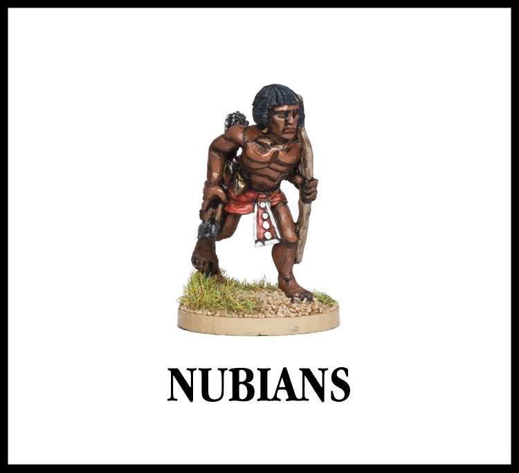 28mm scale lead metal miniature toy soldier from Wargames Foundry biblical era nubian archer stalking forwards