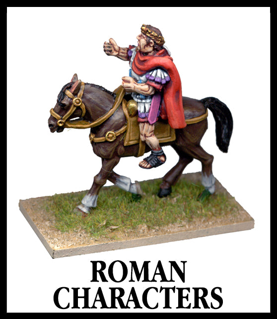 28mm scale lead metal miniature toy soldier from Wargames Foundry Caesarian Roman General Character with arm outreached