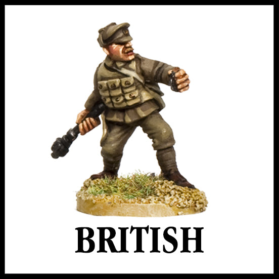 28mm scale lead metal miniature toy soldier from Wargames Foundry WW1 The Great War British Trench Raider in full uniform