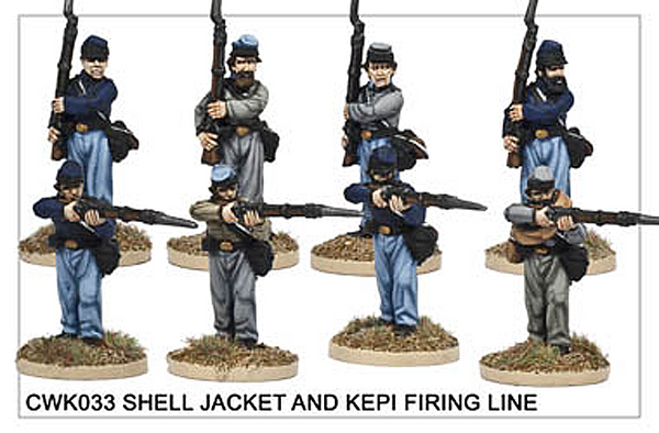 CWK033 Infantry in Kepi and Shell Jacket Firing Line