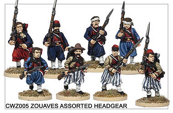 CWZ005 Zouaves in Assorted Headgear