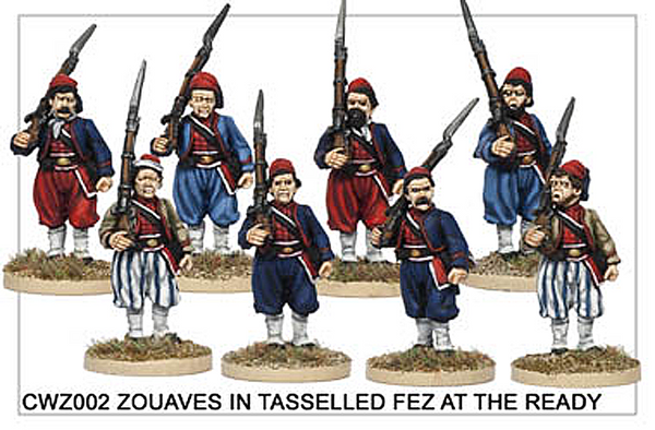 CWZ002 Zouaves in Tasseled Fez at the Ready