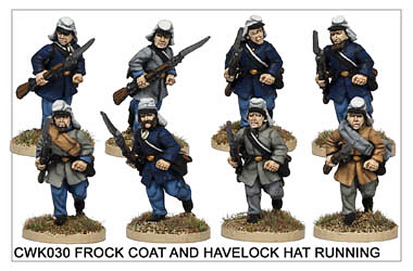 CWK030 Infantry in Havelock and Frock Coat Running