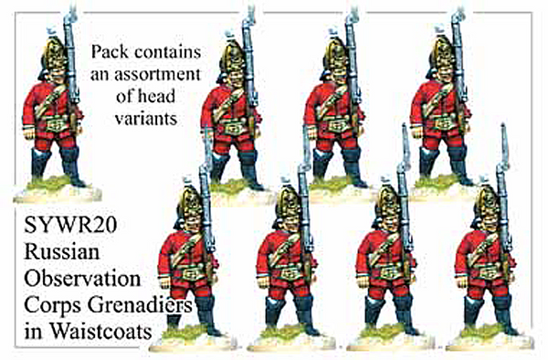 SYWR020 Russian Observation Corps Grenadiers in Waistcoats