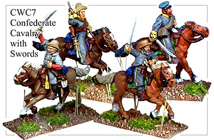 CWC007 Confederate Cavalry with Swords