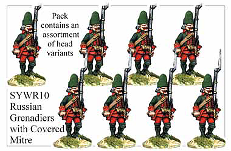 SYWR010 Russian Grenadiers with Covered Mitre