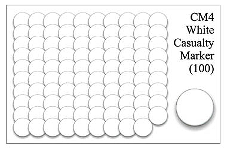 CM004 - White Casualty Markers