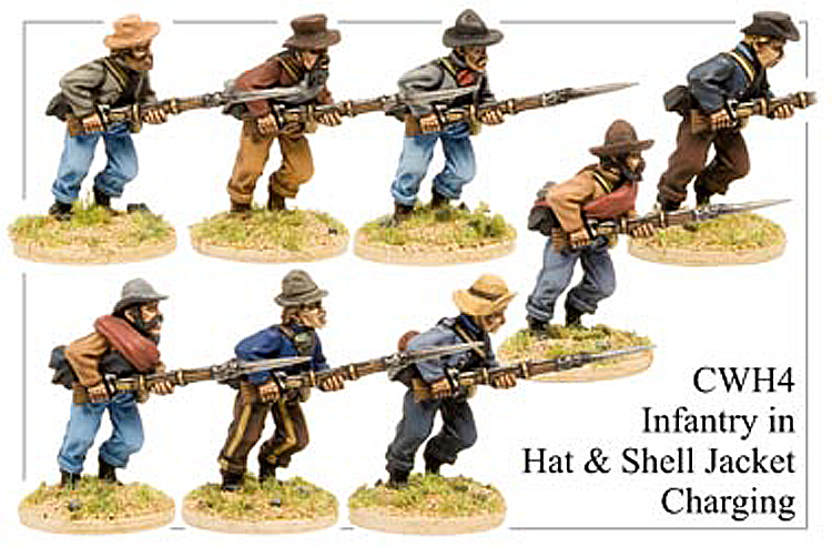 CWH004 Infantry in Hats and Shell Jackets Charging