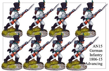 AN015 German Infantry 1806-15 Advancing