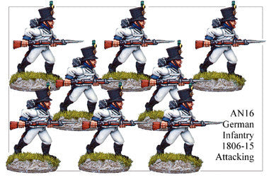 AN016 German Infantry 1806-15 Attacking