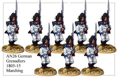 AN026 German Grenadiers 1805-15 Marching