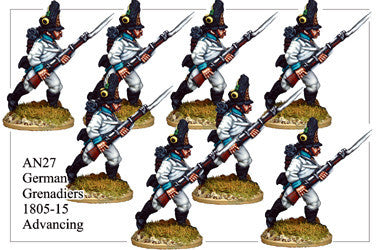 AN027 German Grenadiers 1805-15 Advancing
