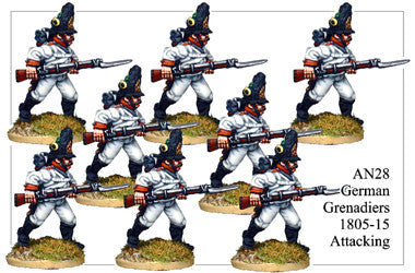 AN028 German Grenadiers 1805-15 Attacking