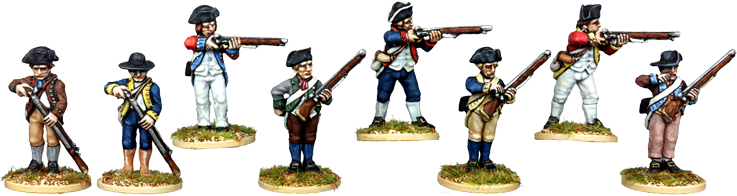 AWI023 - Uniformed Militia Firing Line