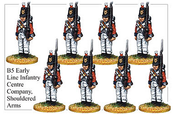 B005 Early Line Infantry Centre Company Shouldered Arms
