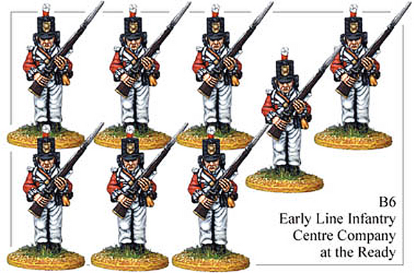 B006 Early Line Infantry Centre Company At the Ready