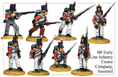 B008 Early Line Infantry Centre Company Assorted
