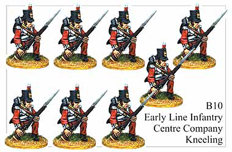 B010 Early Line Infantry Centre Company Kneeling