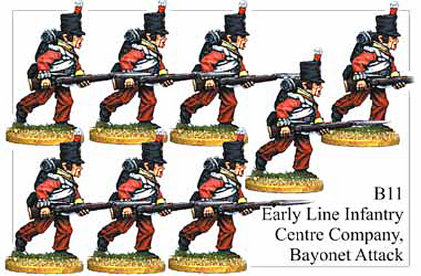 B011 Early Line Infantry Centre Company Bayonet Attack
