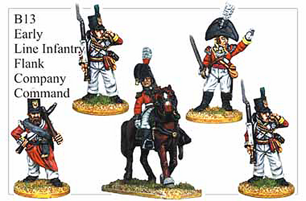 B013  Early Line Infantry Flank Company Command